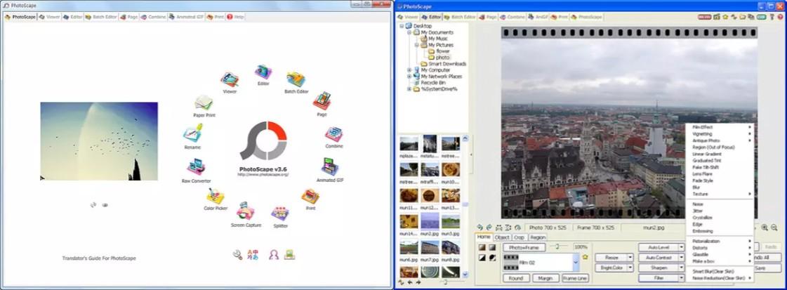 herramientas del editor de fotomontajes photoscape