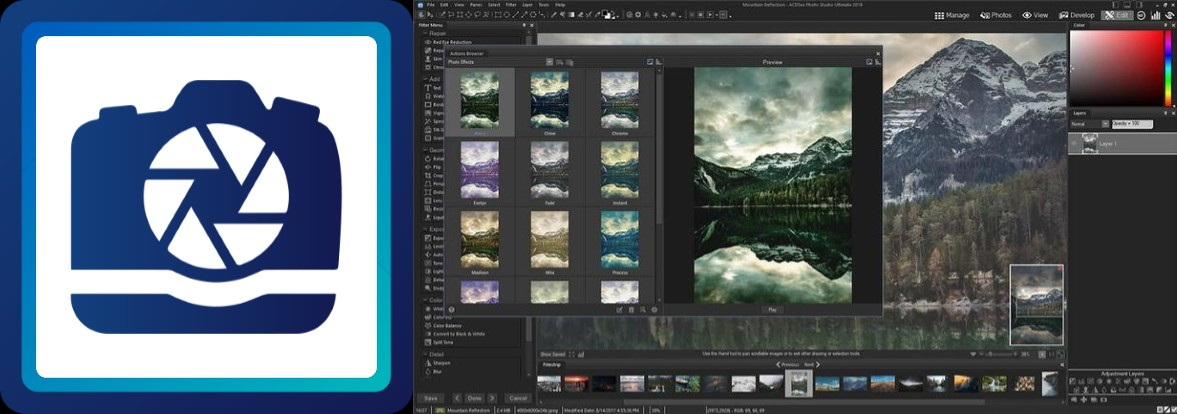 logo e interfaz de photo studio ultimate 2020 acdsee