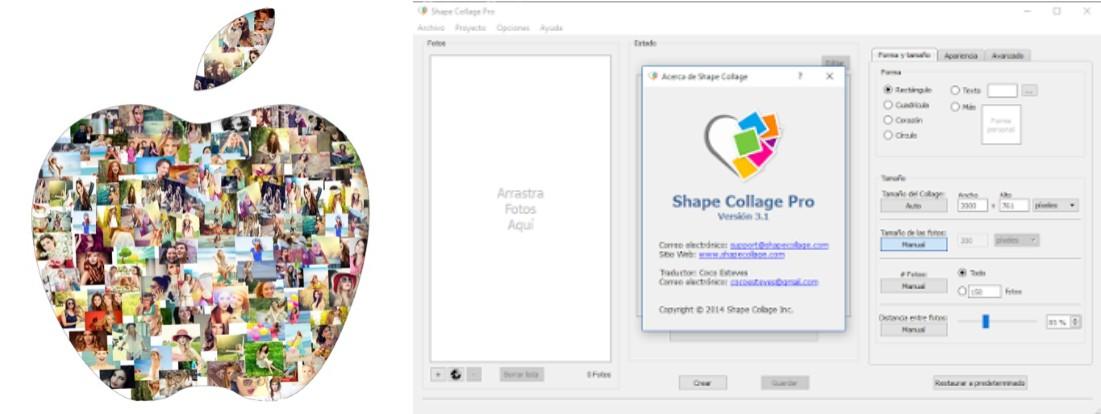 programa para hacer collage gratis shape collage