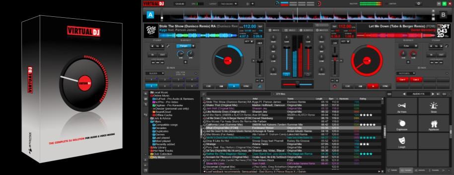 interfaz de virtual dj