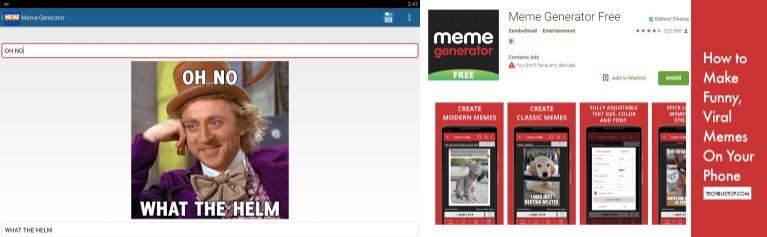 interfaz y app de meme generator