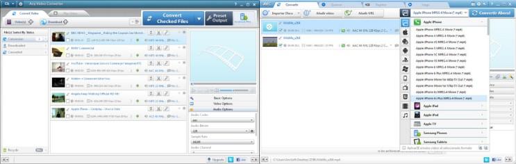 interfaz y herramientas del programa any video converter