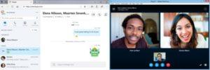 interfaz y llamada en skype