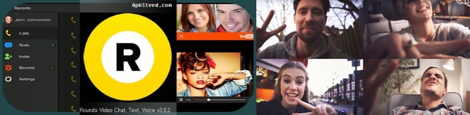 interfaz y llamada hecha en rounds free video chat & calls