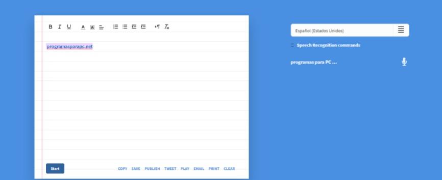 programas para transcribir audio dictation.io