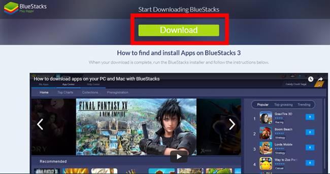 Descargar Bluestacks