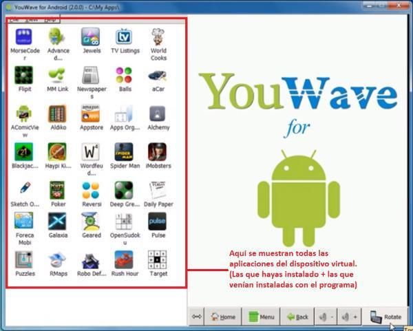 Aplicaciones de Youwave