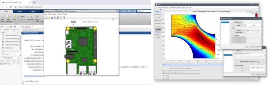 interfaz del programa matlab