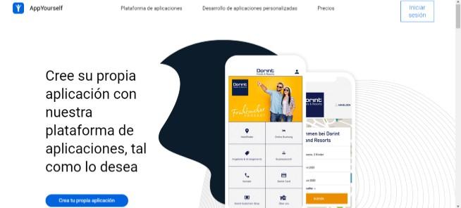 interfaz del programa para hacer aplicaciones android appyourself
