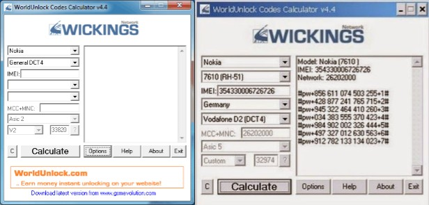 programa para liberar celulares worldunlock codes calculator