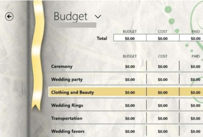 programas para bodas